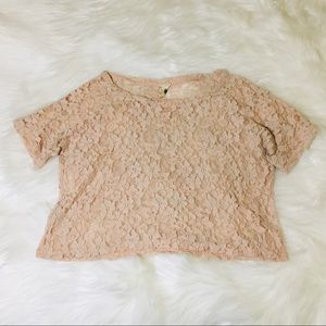 Anthropologie Needle & Thread Blush Lace Blouse!
